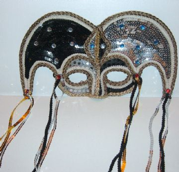 Sequined Jester Mask